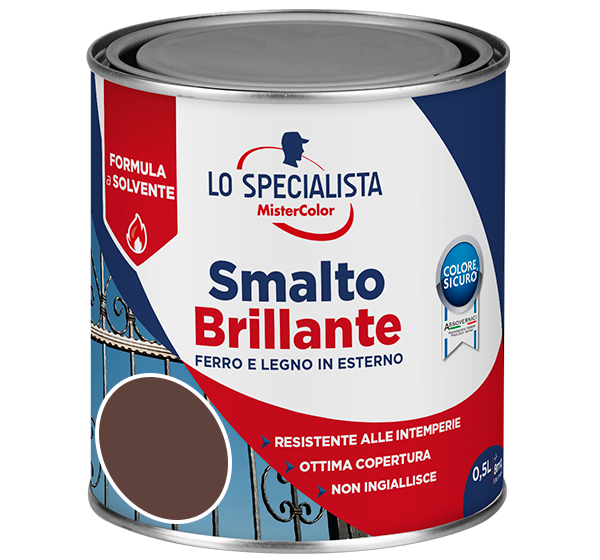 smalto brillante a solvente marrone