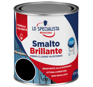 smalto brillante a solvente nero