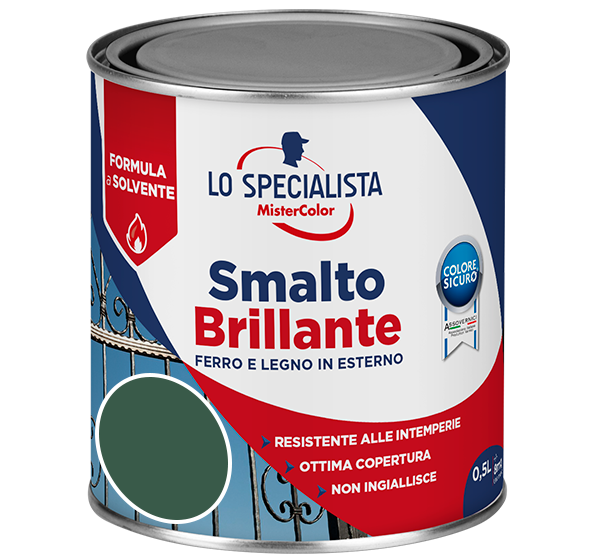 smalto brillante a solvente verde scuro