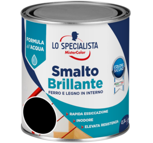 smalto brillante all'acqua nero