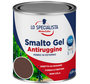 smalto gel antiruggine marrone