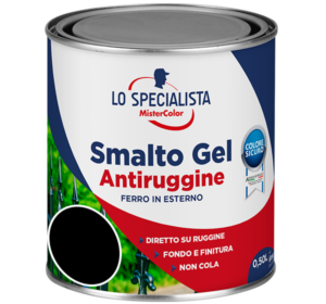 smalto gel antiruggine nero