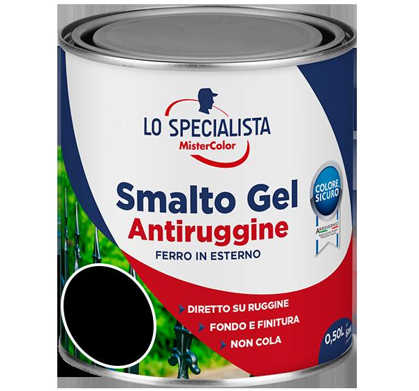 smalto gel antiruggine nero